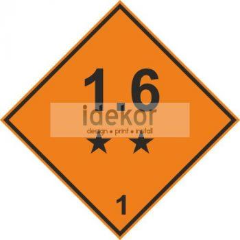 Robbanóanyagok és -tárgyak 1.6 alosztály