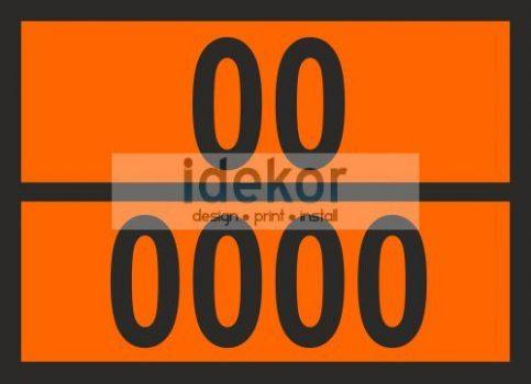 Narancsszínű tábla