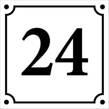 Egyedi házszámtábla (már 15x15 cm mérettől) - 2
