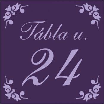 Egyedi házszámtábla - 17