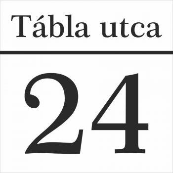 Egyedi házszámtábla - 34