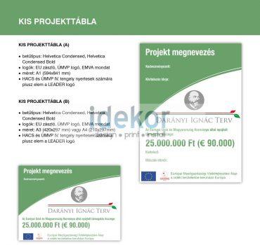 Darányi Ignác Terv - kis projekttábla (A) A1
