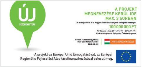Új Széchenyi Terv oriásplakát