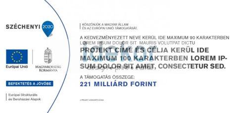 Széchenyi Terv 2020 A tábla oriásplakát