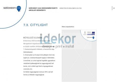 Széchenyi Terv 2020 citylight 1185x1750 mm
