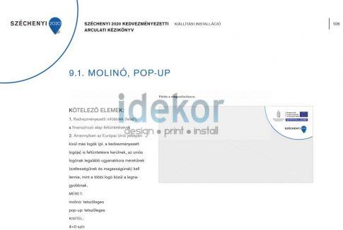 Széchenyi Terv 2020 Sajtófal / Pop-up fal