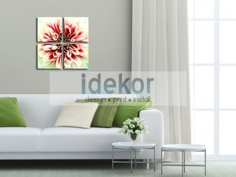 Virágképek - vászonkép több részből vakrámára feszítve (II.)