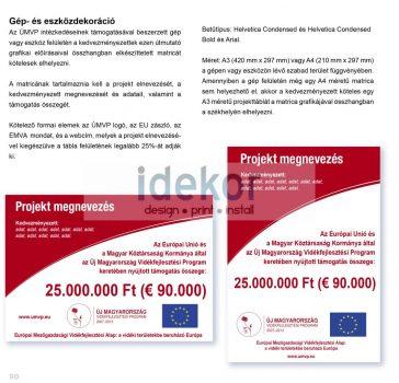 UMVP - kis projekt tábla (B) A3