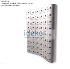 UMVP Sajtófal  Pop-up fal 3x3 - 5 elemes íves