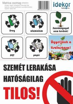 Gazdaságos KÖRNYEZETVÉDŐ matrica csomag 04