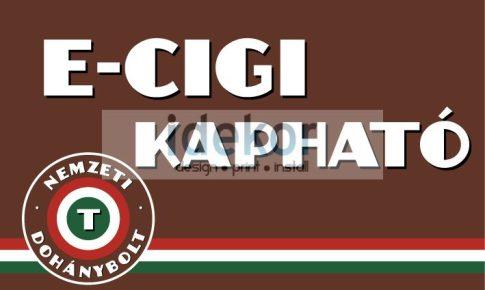 Nemzeti Dohánybolt e-cigaretta kapható