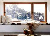 Ablakra ragasztható matrica hópelyhek