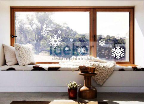 Ablakra ragasztható hópelyhek