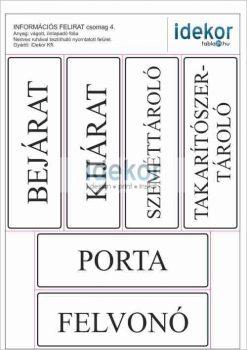 Gazdaságos INFORMÁCIÓS matrica csomag 04