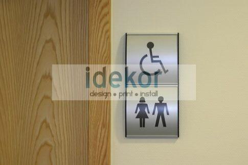 Beltéri falra/ajtóra ragaszható információs táblák