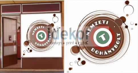 Kreatív Nemzeti Dohány kirakat matrica 13