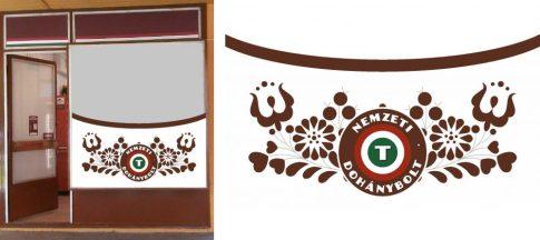 Kreatív Nemzeti Dohány kirakat matrica 6
