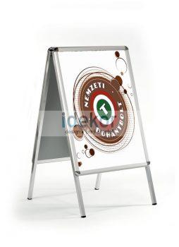 Megállító tábla plakáttal