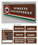 Nemzeti dohánybolt tábla 145 x 50 cm + matrica alap csomag