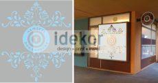 Kreatív Nemzeti Dohány homokfújt fólia kirakatra A vagy B grafikával