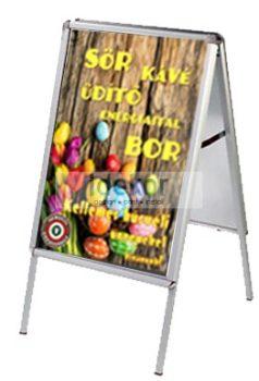 megállító tábla (húsvéti) plakáttal akár kültérre is!
