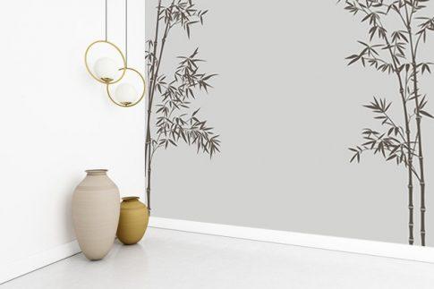 Tapéta dekor - bambusz