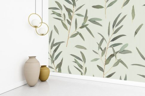 Tapéta dekor - növény mintás