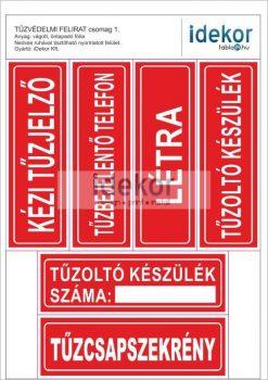 Gazdaságos TŰZVÉDELMI matrica csomag 01