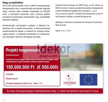Vidékfejlesztési Program - nagy  projekttábla 300 x 150 cm